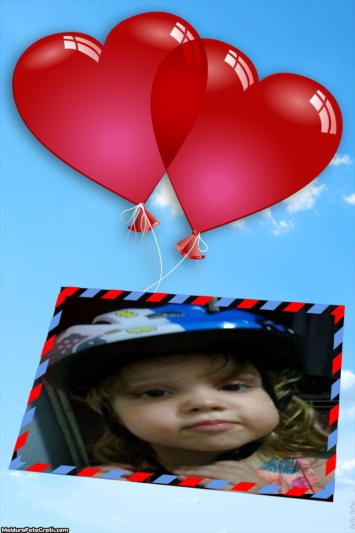 Dois Corações Dia dos Namorados Moldura