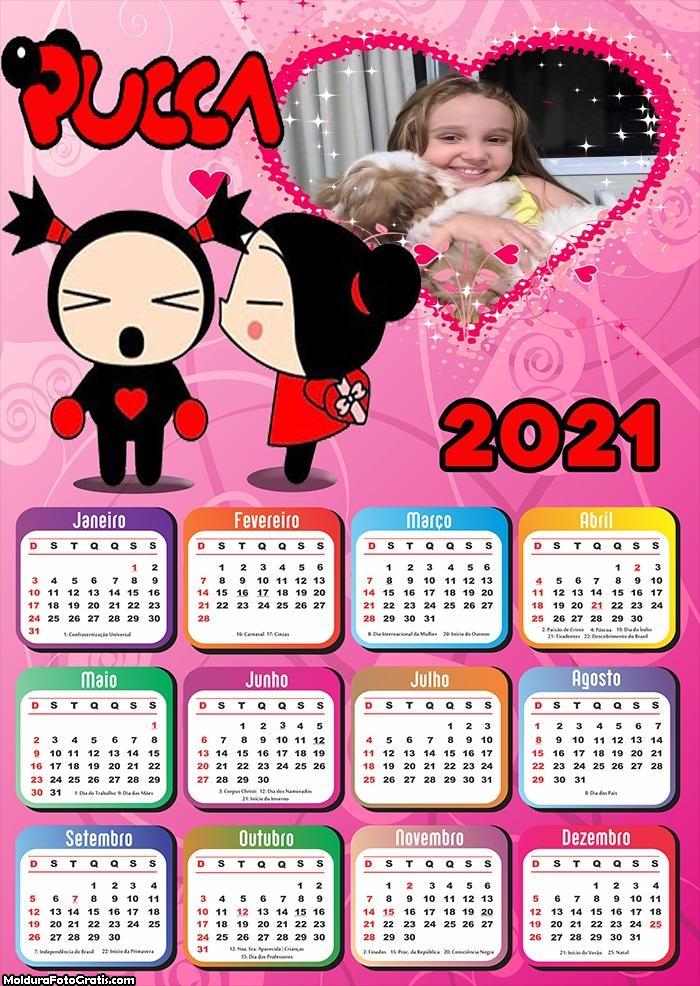 Calendário Pucca 2021