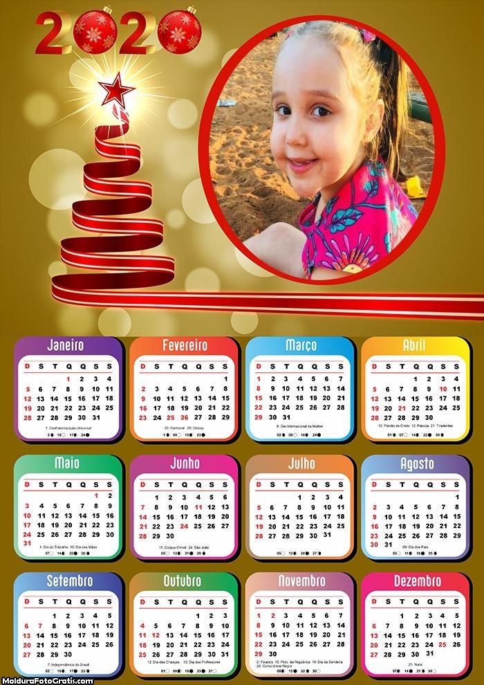 Calendário Fita Natalina 2020