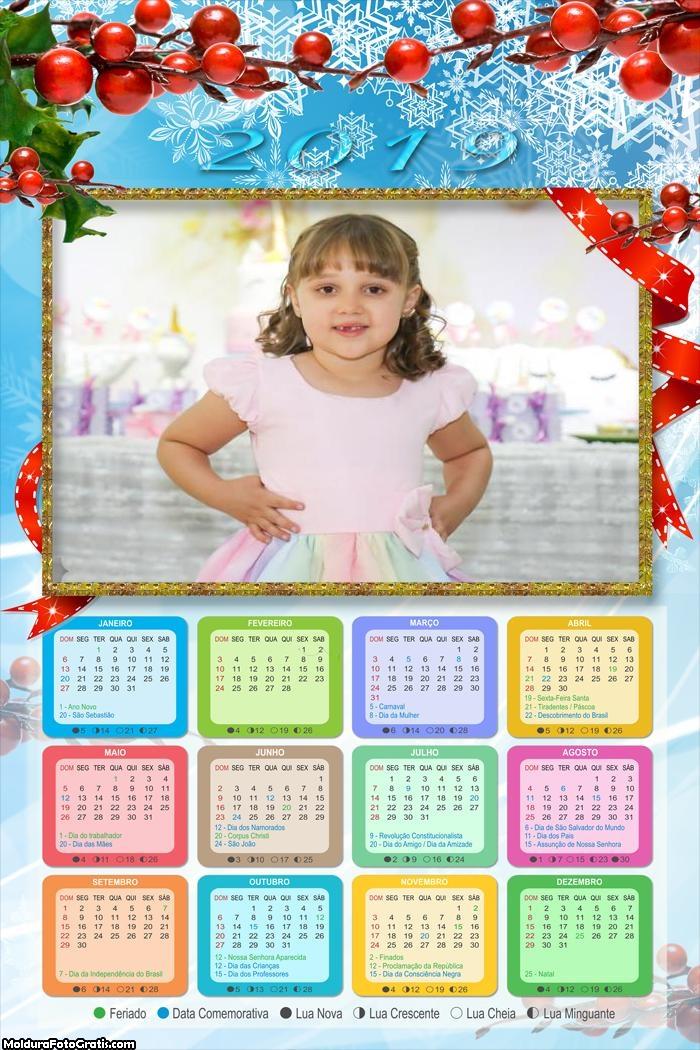 Calendário Fruta Gelo de Natal 2019