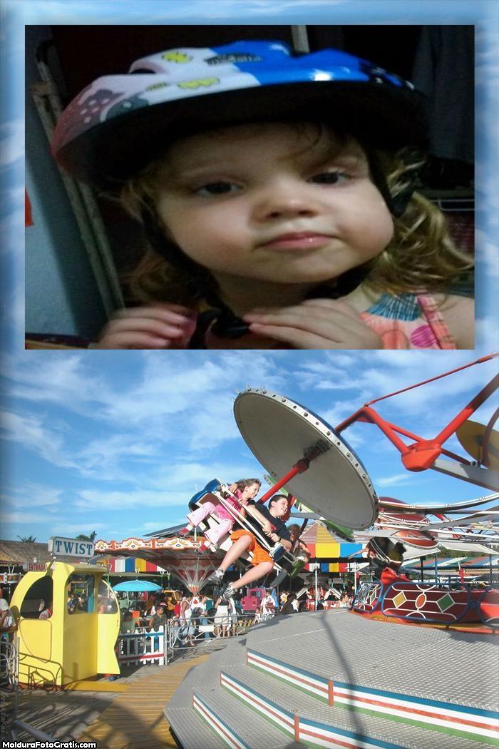 Moldura Fotos com Parque Infantil