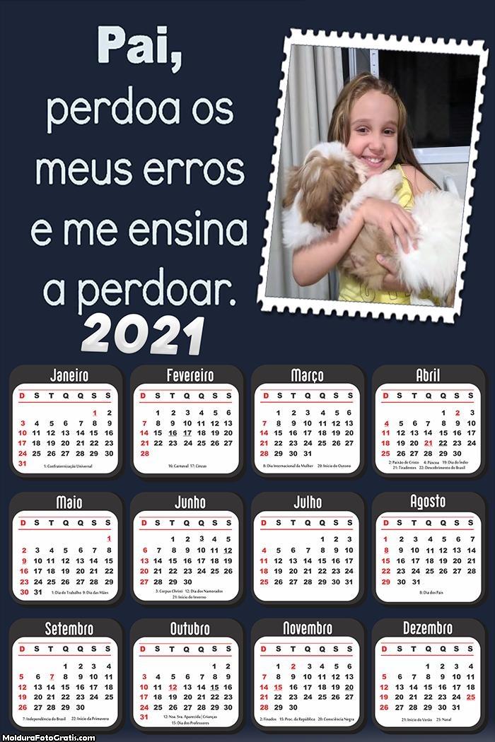 Calendário Pai Perdoa Meus Erros 2021