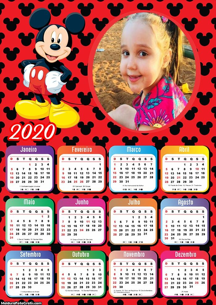 Calendário Mickey 2020