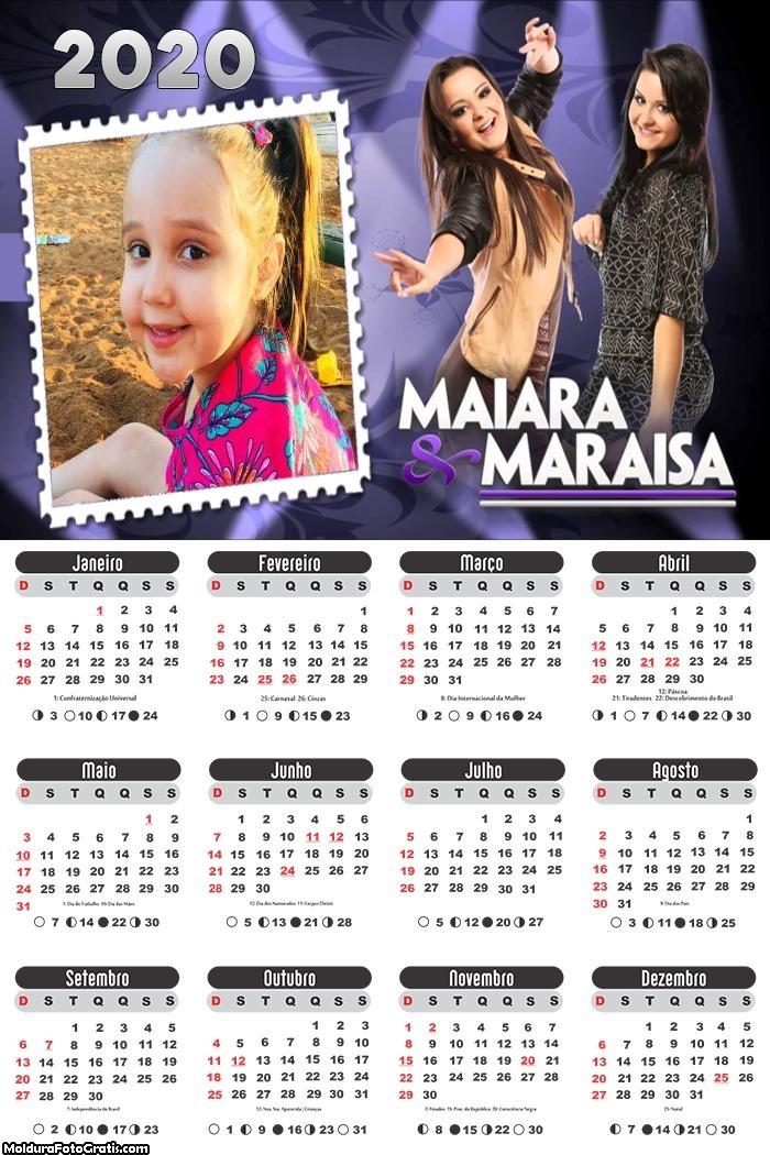 Calendário Maiara e Maraisa 2020