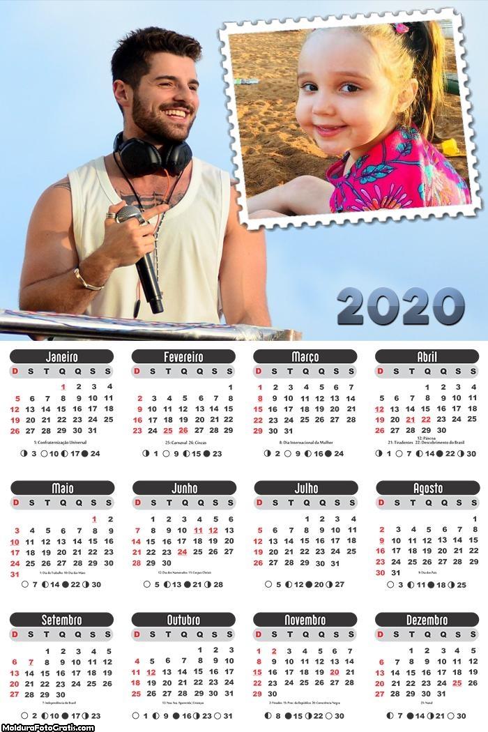 Calendário Alok 2020