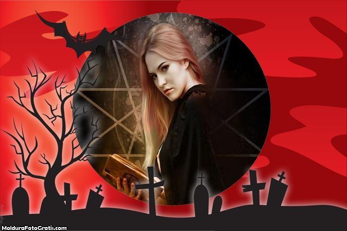 Moldura Cemitério Dia das Bruxas