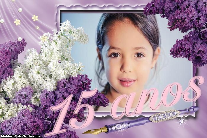 Aniversário 15 anos Moldura