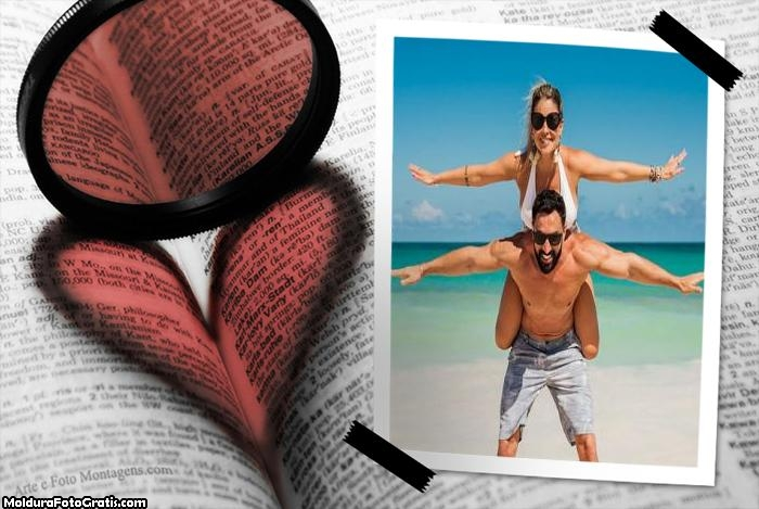 Livro Dia dos Namorados Foto Moldura