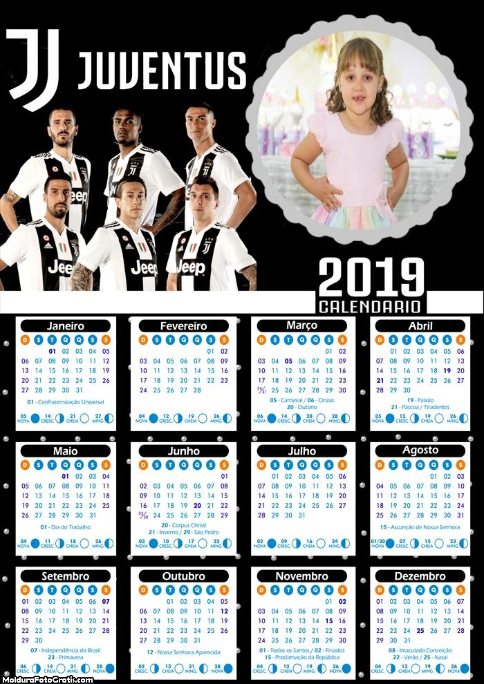 Calendário do Juventus 2019