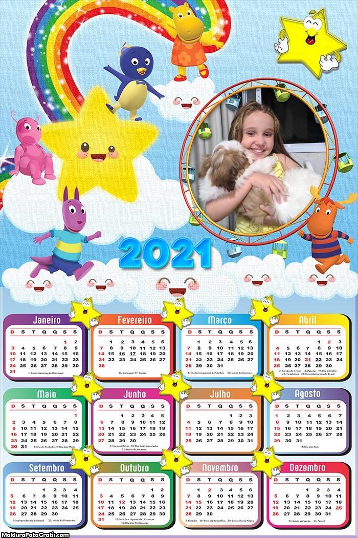 Calendário Backyadigans 2021