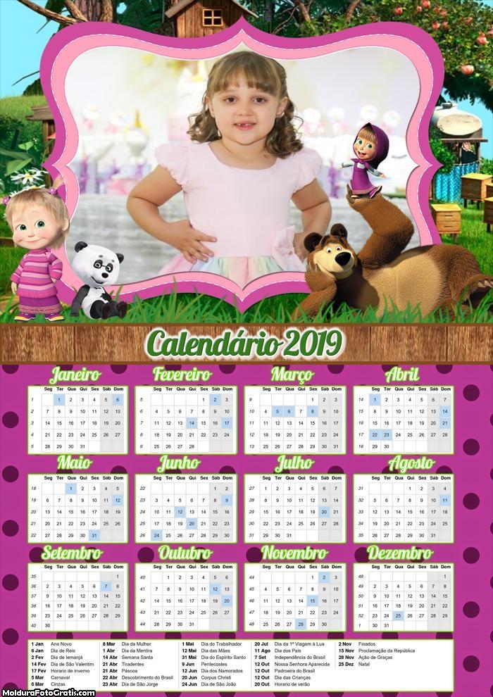 Calendário da Masha 2019