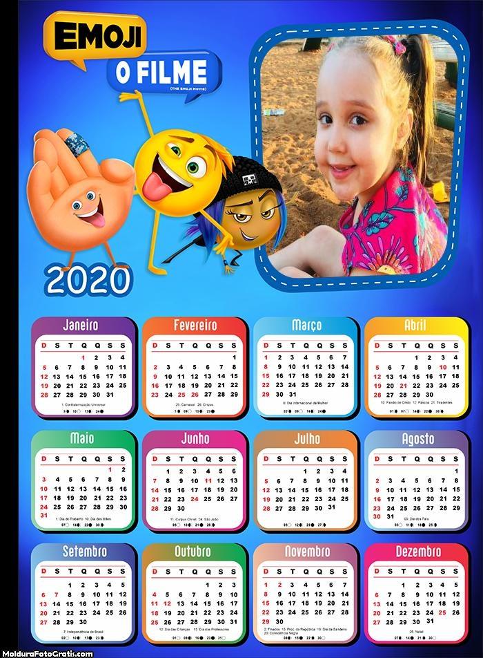 Calendário Emoji 2020