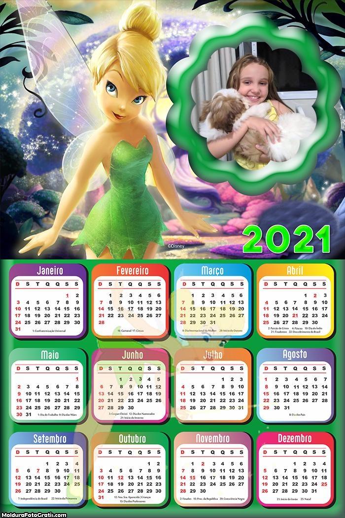 Calendário Tinker Bell 2021