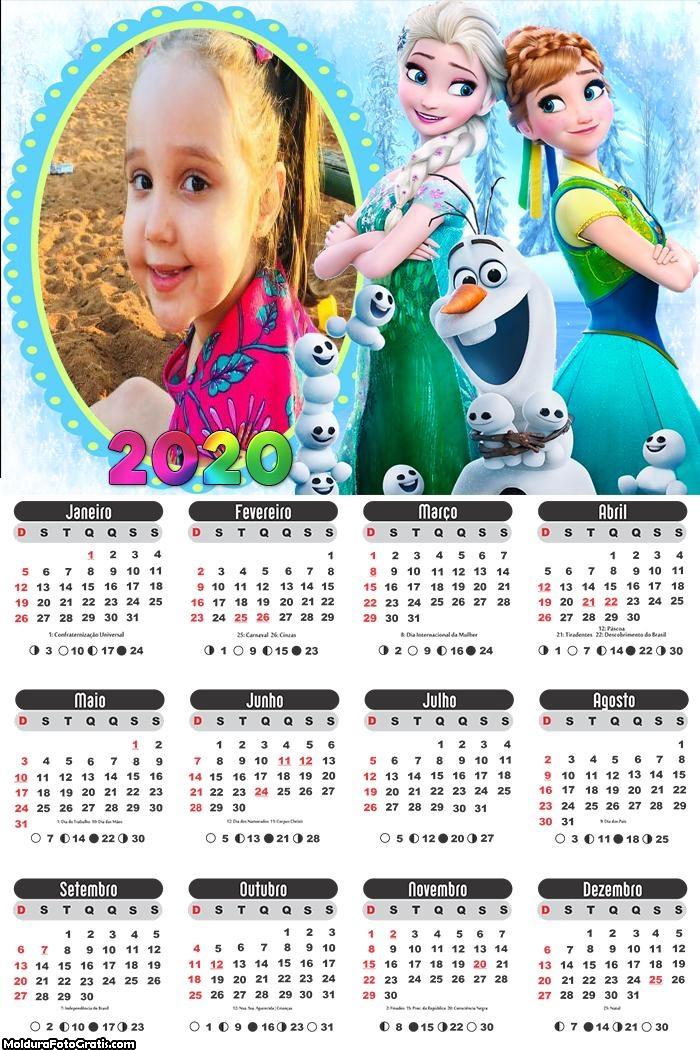 Calendário da Frozen 2020