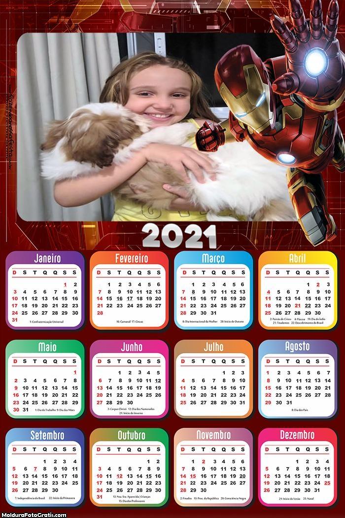 Calendário Homem de Ferro 2021