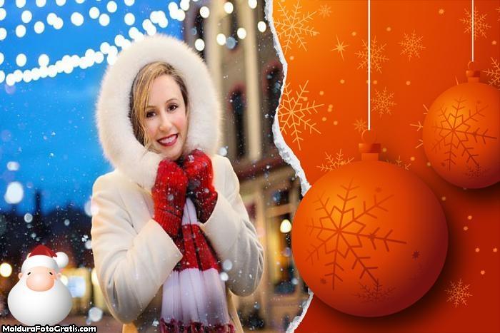 Cartão de Natal Rasgado Moldura