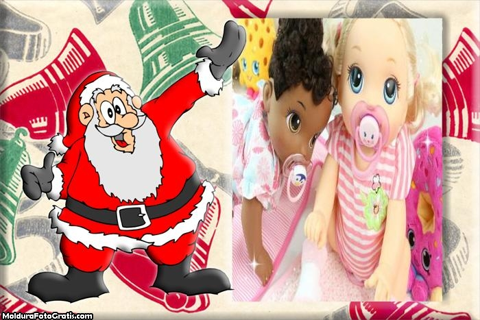Papai Noel Contente FotoMoldura