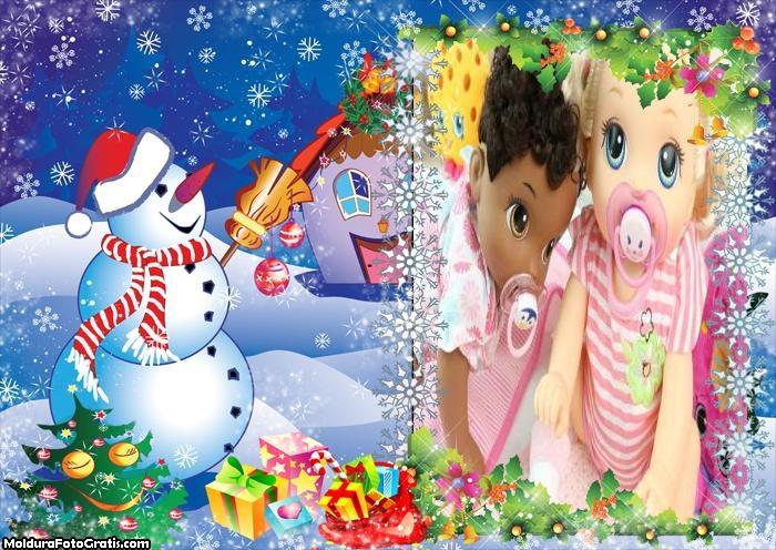 Boneco de Neve Animado FotoMoldura