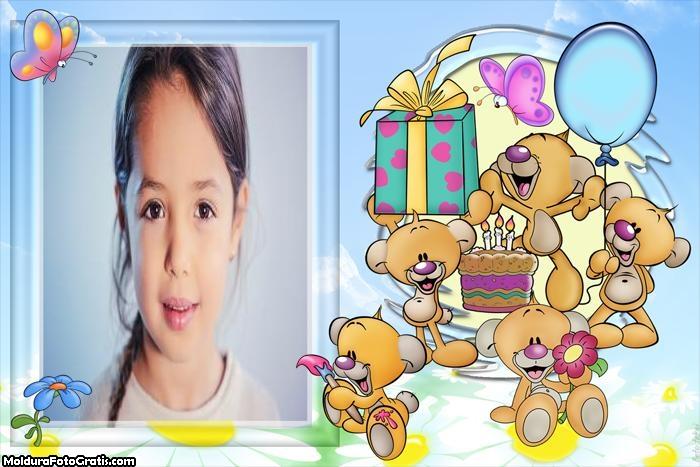 Aniversário Infantil Moldura