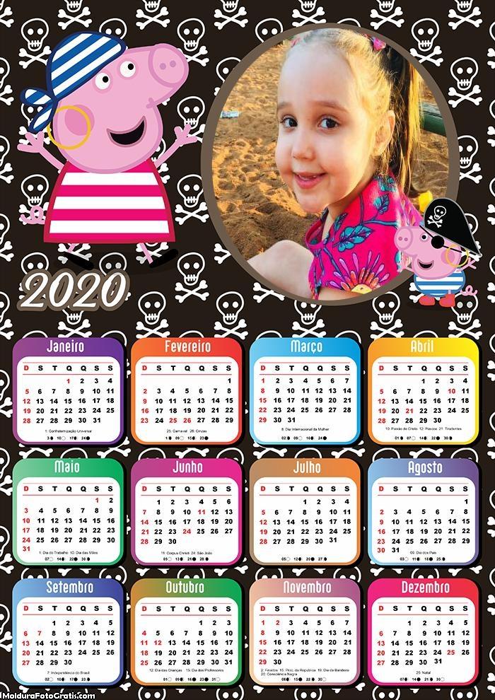Calendário Peppa Pig Pirata 2020