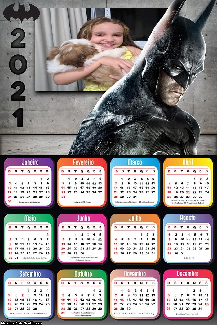 Calendário Batman 2021