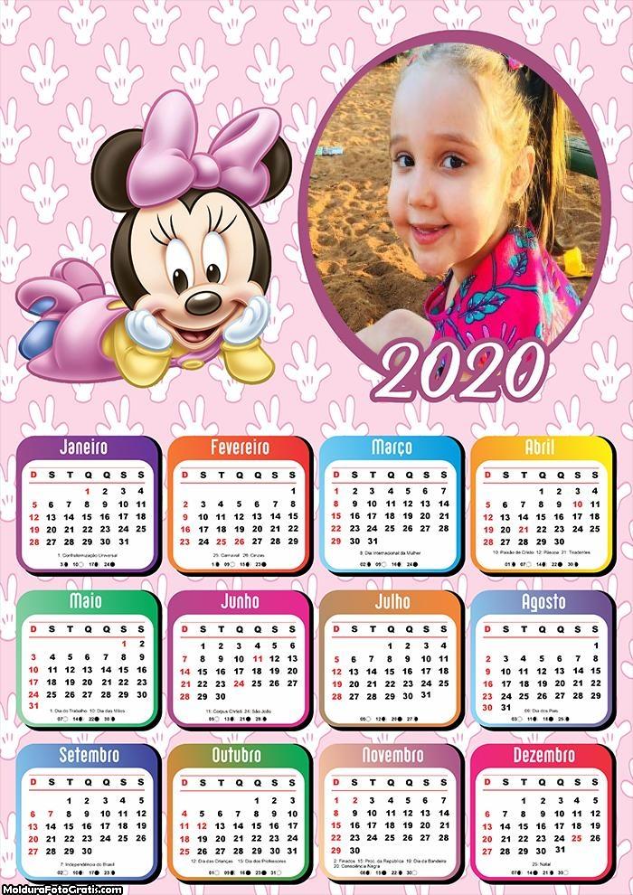 Calendário Minnie Baby 2020