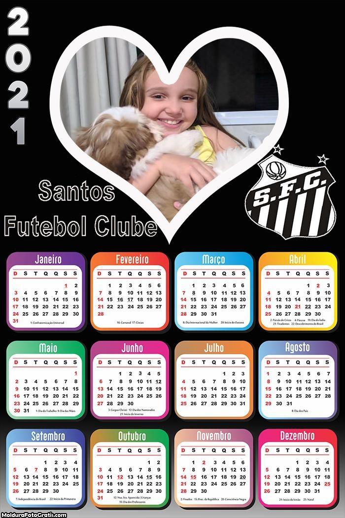 Calendário Santos Futebol 2021