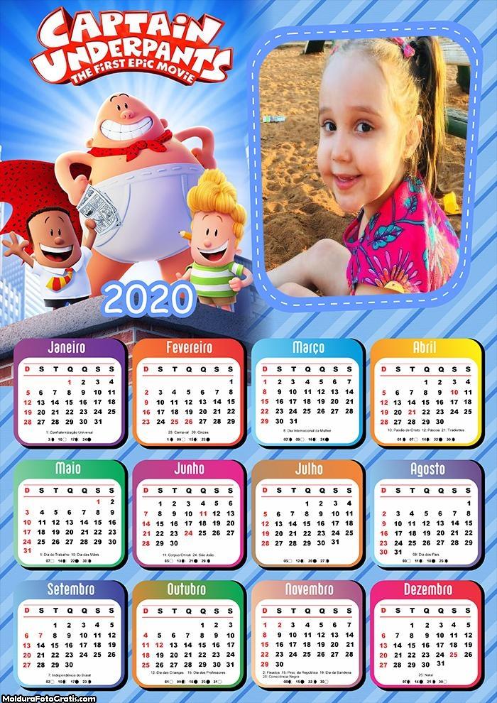 Calendário Capitão Cueca 2020