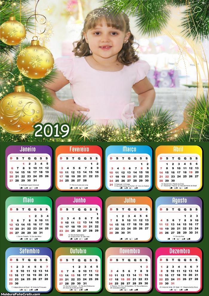 Calendário de Natal com Arranjos 2019