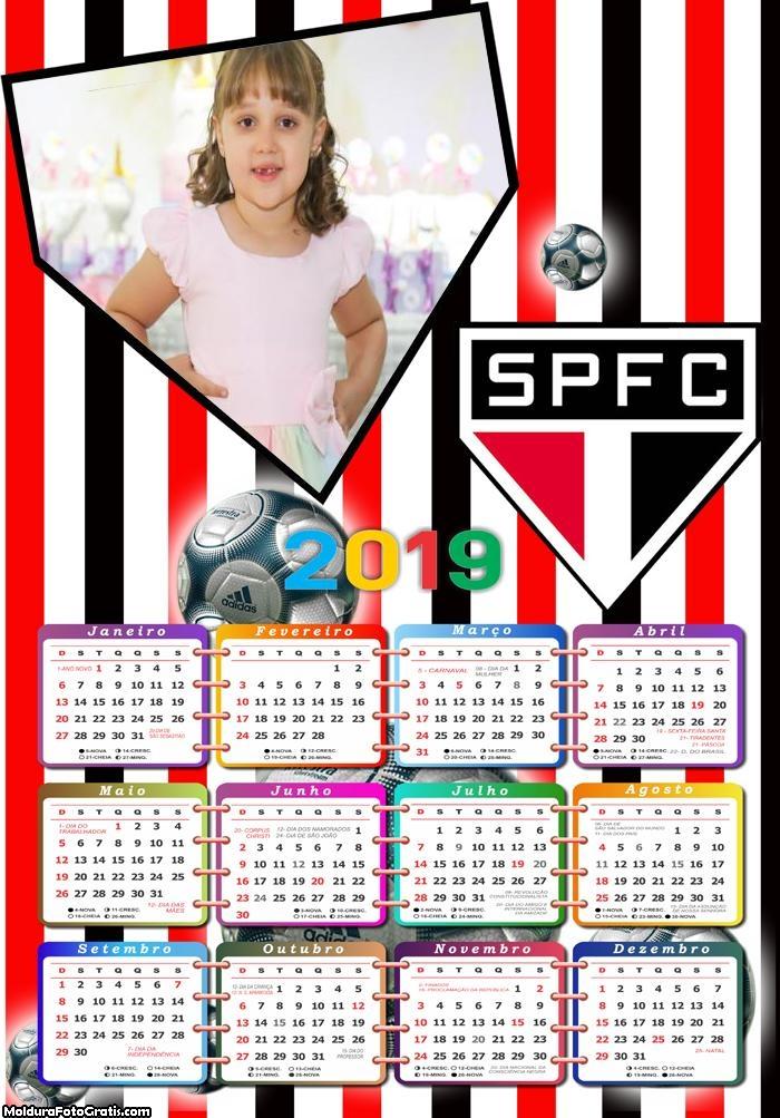 Calendário SPFC 2019 Moldura
