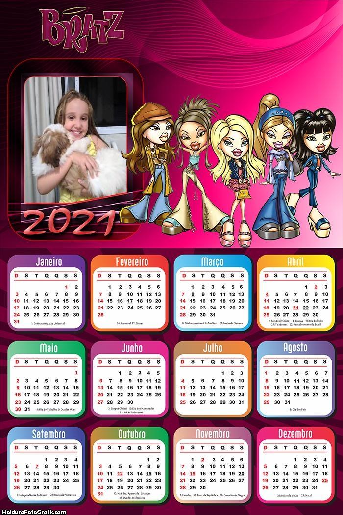 Calendário Bratz 2021