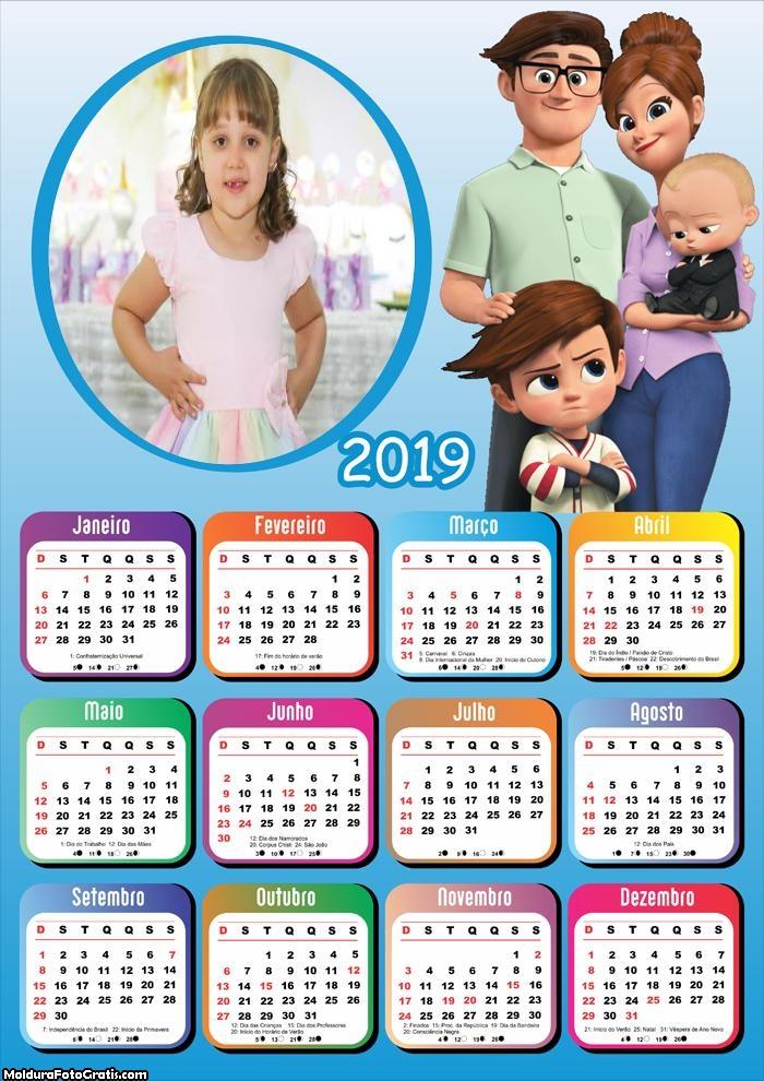 Calendário Poderoso Chefinho Família 2019