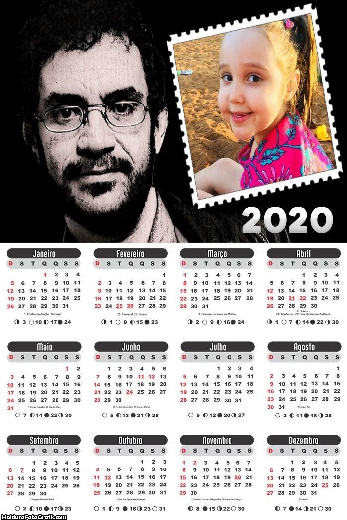 Calendário Renato Russo 2020
