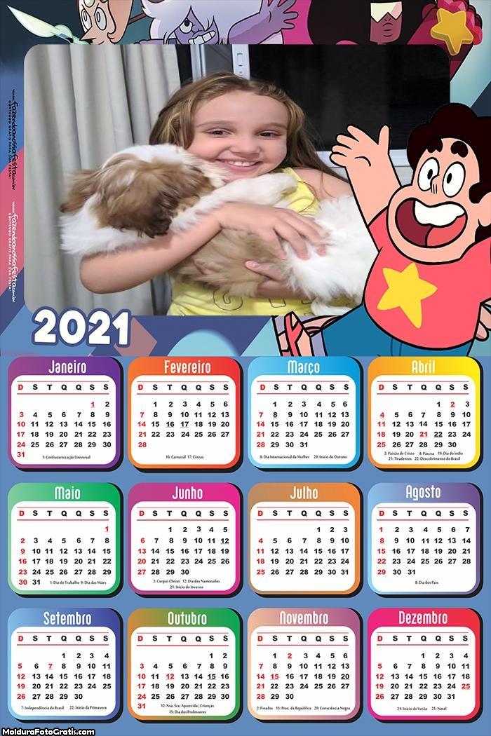 Calendário Steve Universo 2021