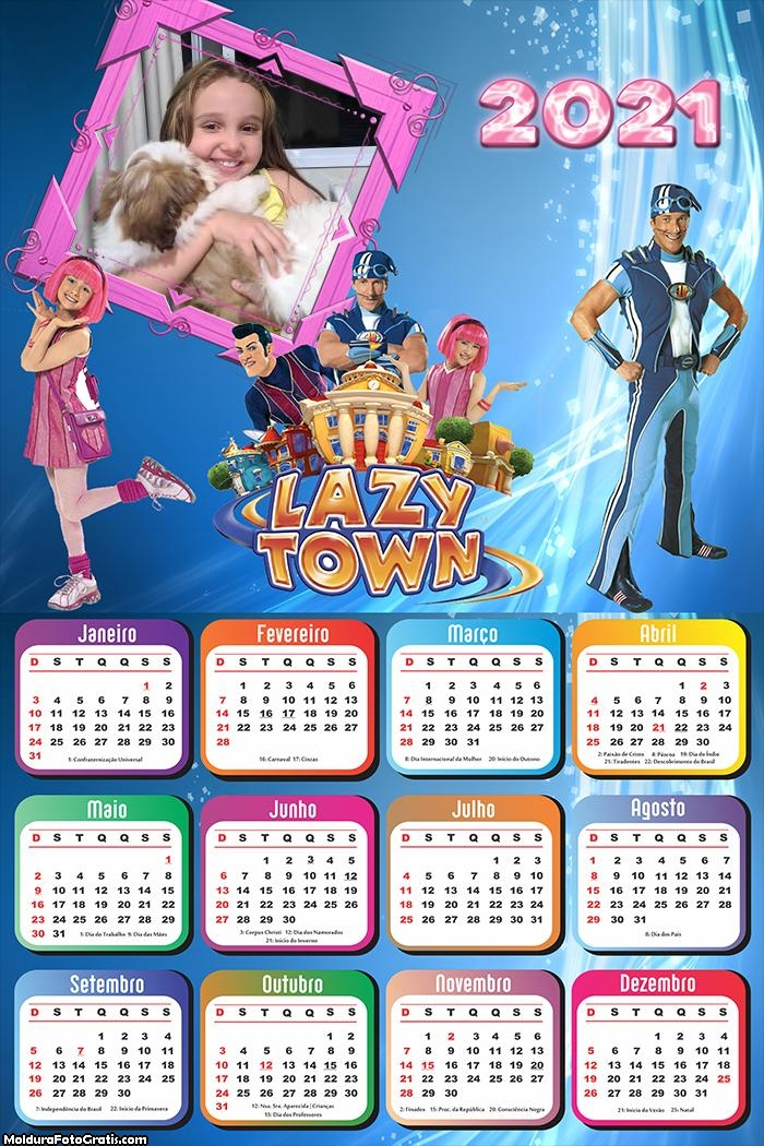 Calendário Lazy Town 2021