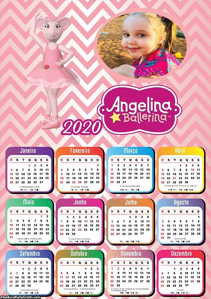 Calendário Angelina Ballerina 2020
