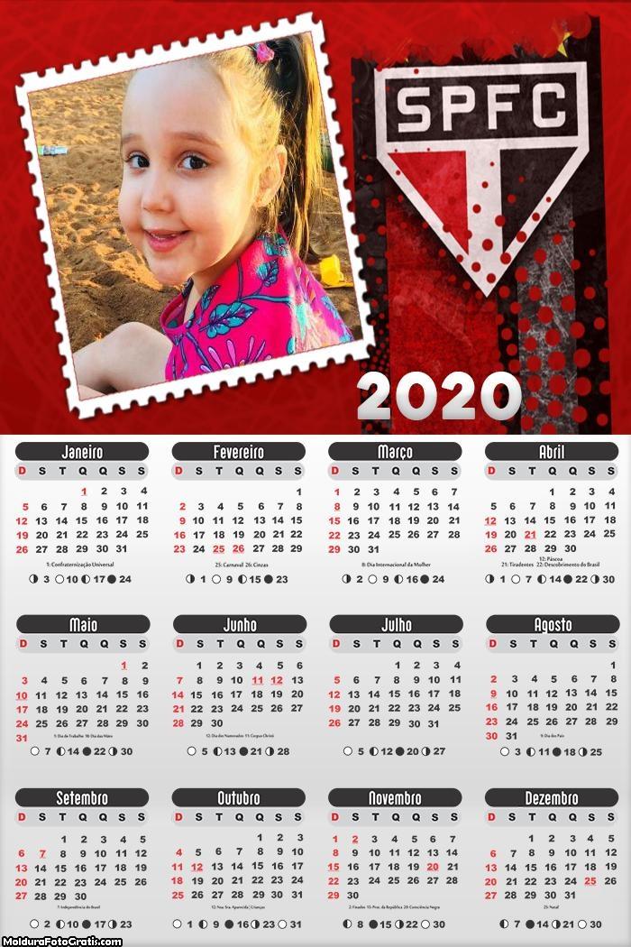 Calendário do São Paulo Time 2020
