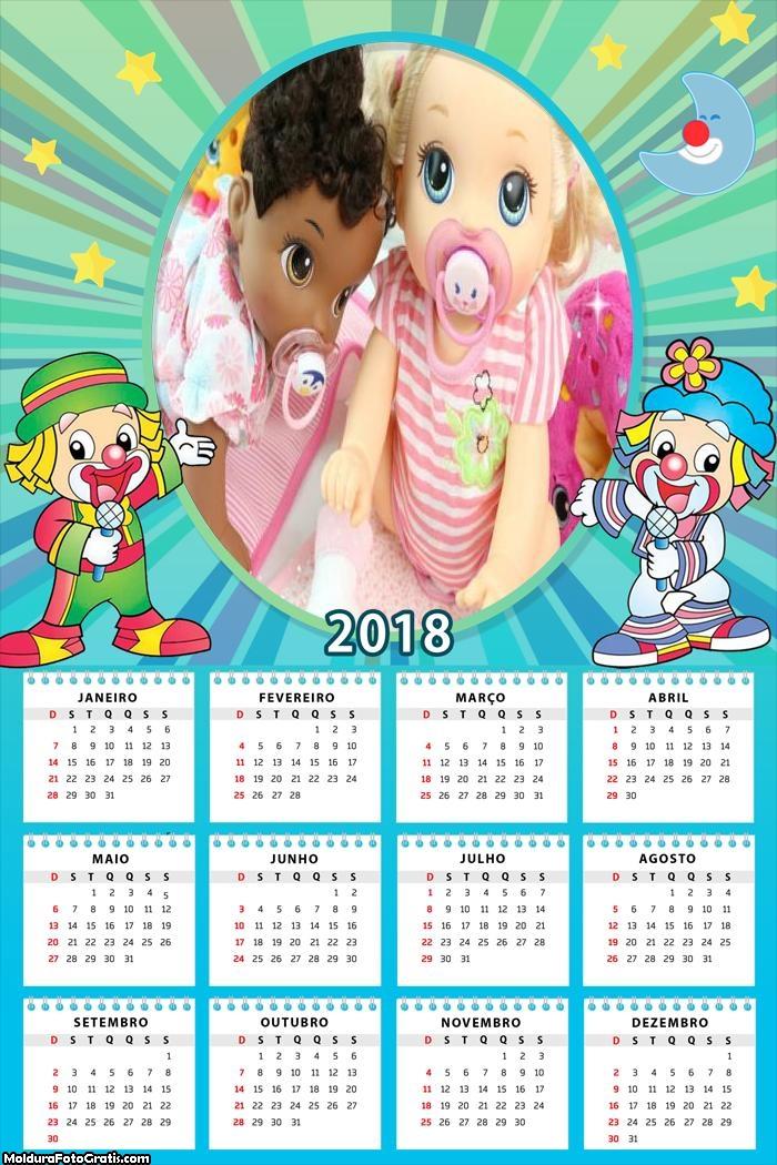 Calendário Palhacinhos 2018