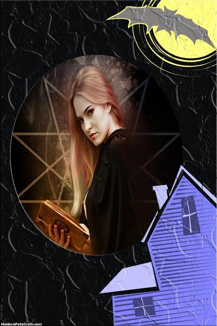Casa de Halloween Moldura