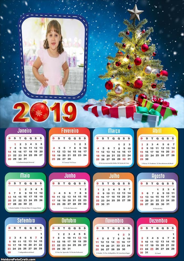 Calendário Linda Árvore de Natal 2019