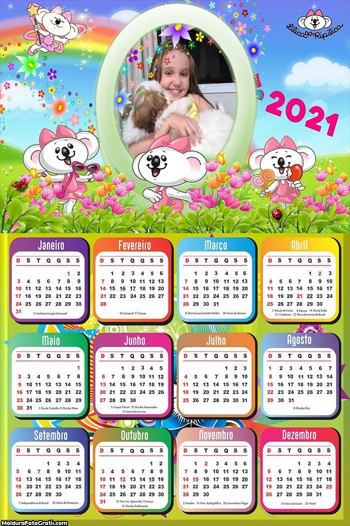 Calendário Lilica 2021
