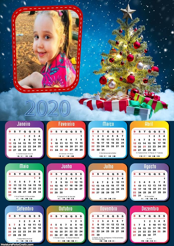 Calendário Lembrança de Natal 2020