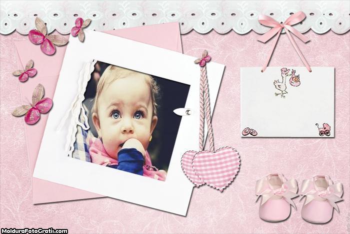 Bebê Menina Moldura para Foto