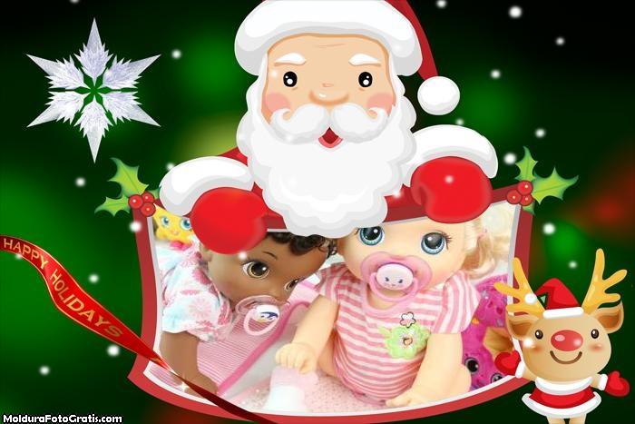 Papai Noel Animação FotoMoldura