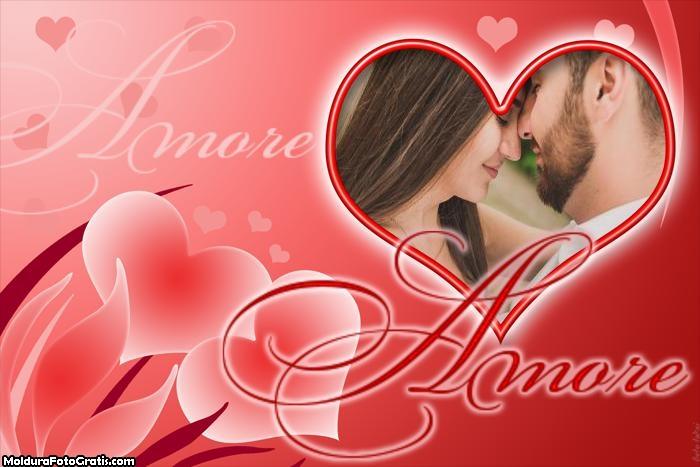 Amore Foto Moldura Dia dos Namorados