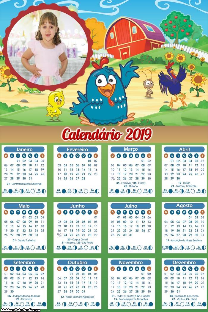 Calendário da Galinha na Fazenda 2019