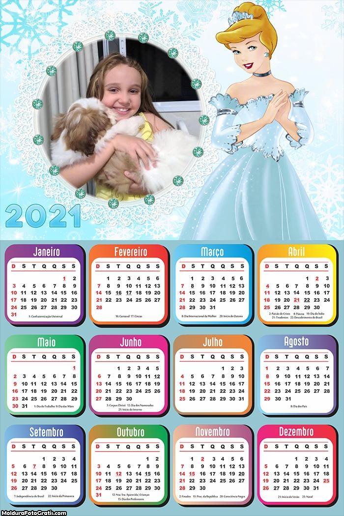 Calendário Princesa Cinderela 2021