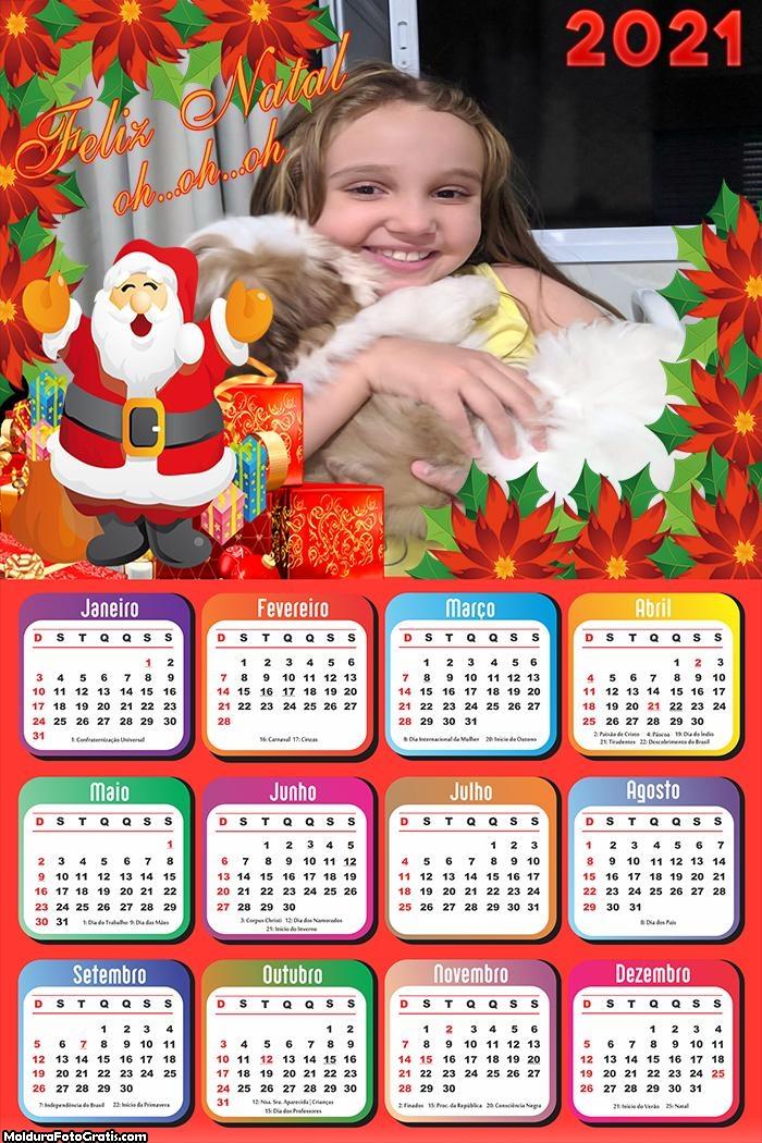 Calendário Feliz Natal Papai Noel 2021
