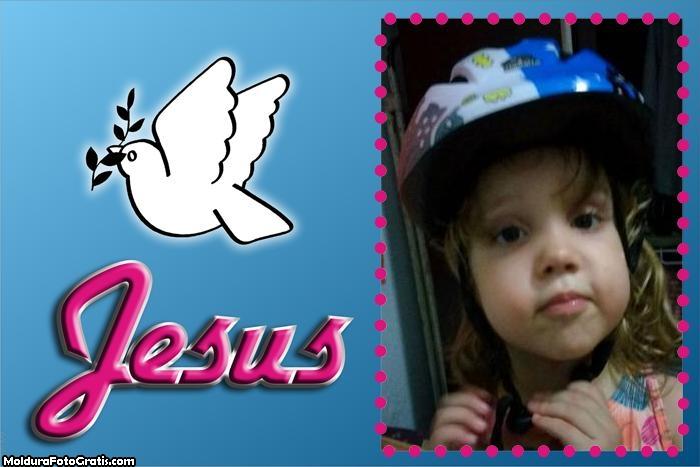 FotoMoldura Pombinha Da Paz Jesus