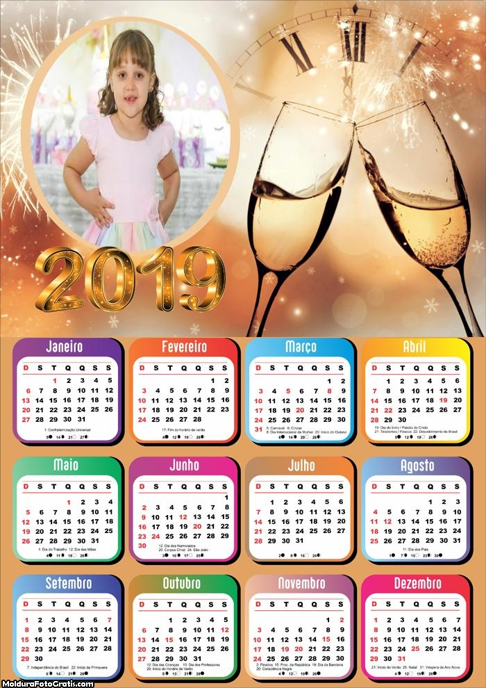 Calendário Contagem Regressiva 2019